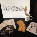 Promo items for the computer application Pleaserama, 2014
