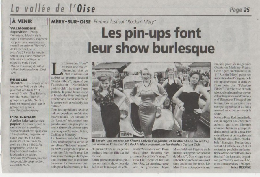 Gazette de l'Oise, 12 march 2012