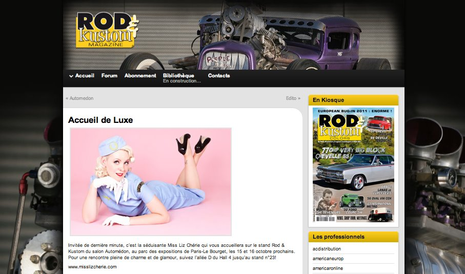 Rod & Kustom magazine, oct 2011
