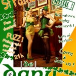 Promo picture for the St Patrick's Day at the De Danu bar, Toulouse, 2013