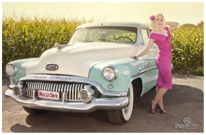 Back to the 50s by Damona Art, car by nostalgic cars