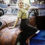 I had the chance to get in the car Marilyn Monroe use in her movie Gentlemen Prefer Blondes!