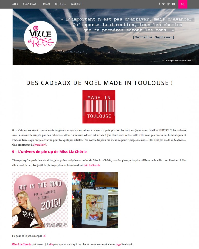 La ville en rose, webzine from Toulouse, dec 2014