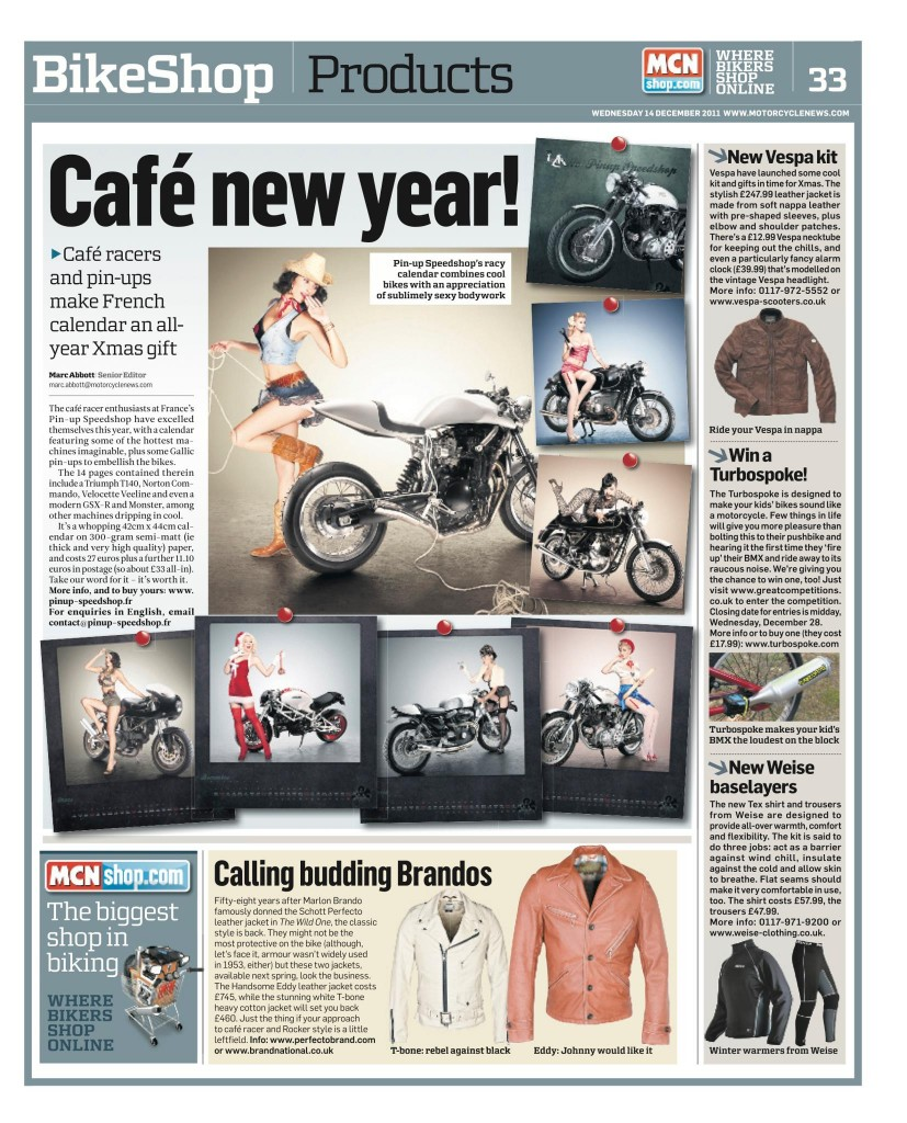 Motorcycle news, UK, dec 2011