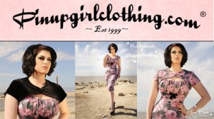 pin up girl clothing banner