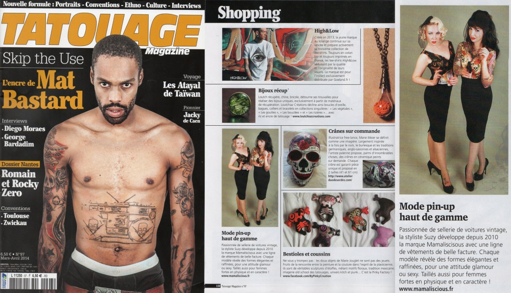 Tatouage mag, march 2014